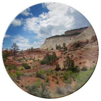 Checkerboard Mesa Zion National Park Utah Plate