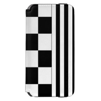 Checkers & Stripes Black and White iPhone Wallet Incipio Watson™ iPhone 6 Wallet Case