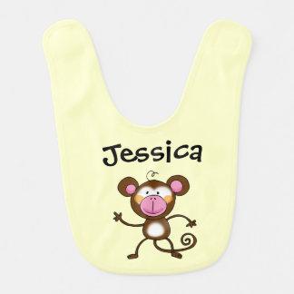cheeky jungle monkey - just add name bib