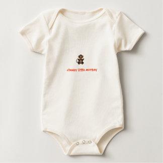 Cheeky little monkey baby grow vest baby bodysuit