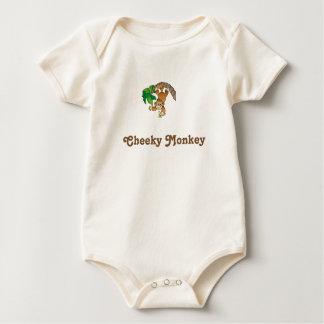 Cheeky monkey baby bodysuit