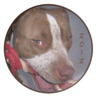 Cheeky Pitbull Plate