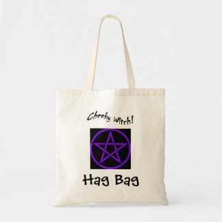 Cheeky Witch Hag Bag - Purple Pentagram