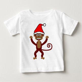 Cheeky Xmas Monkey Baby T-Shirt