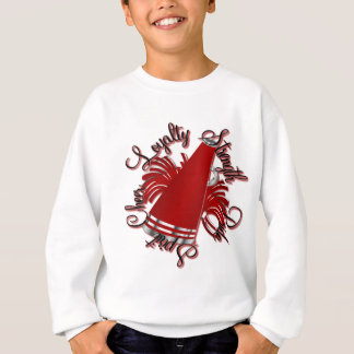 Cheer Red and Silver Qualities Sweatshirt