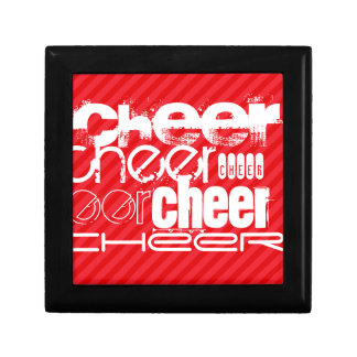 Cheer; Scarlet Red Stripes Gift Box