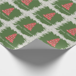 Cheerful adorable cute Christmas tree winter Wrapping Paper