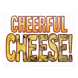 Cheerful Blue Cheese Postcard
