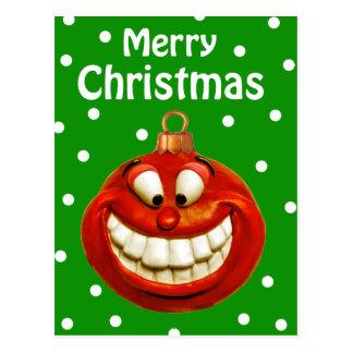 Cheerful Christmas Ornament Postcards