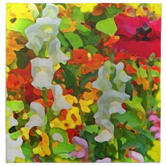 Cheerful Garden Colours Cloth Napkin