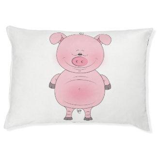 Cheerful Pink Pig Cartoon Pet Bed