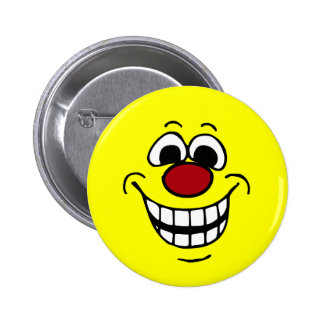 Cheerful Smiley Face Grumpey 6 Cm Round Badge
