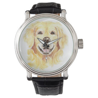 Cheerful Smiling Golden Retriever Dog Pet Animal Watch