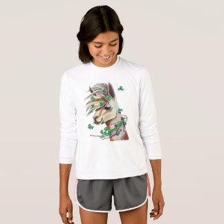 cheerful spring llama T-Shirt