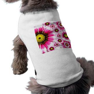 Cheerful Summer Pink Flower Collage Shirt