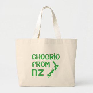 Cheerio from NZ with New Zealand map Jumbo Tote Bag