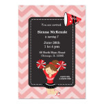 Cheerleader, choose your own background colour 13 cm x 18 cm invitation card