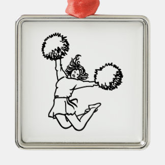 Cheerleader Girl Christmas Ornament