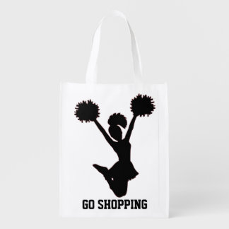 Cheerleader Personalize Reusable Grocery Bag