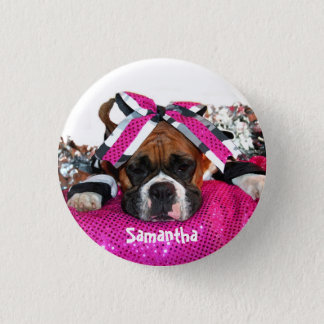 Cheerleader personalized Boxer button