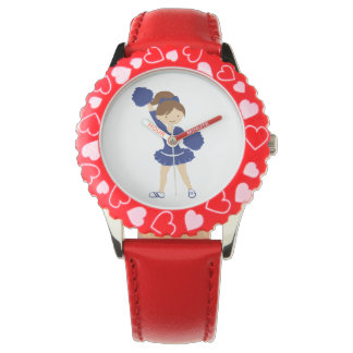 Cheerleader red and blue watch