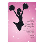 Cheerleader Silhouette Invitation