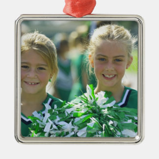 Cheerleaders 2 christmas ornament