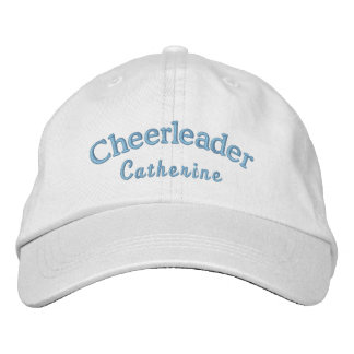 Cheerleader's Custom Blue Embroidered Ball Cap Embroidered Hats