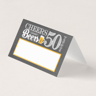 Cheers and Beers to 50 Years Place Card