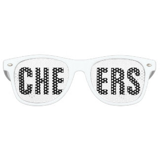'CHEERS' Black and White Party Retro Sunglasses