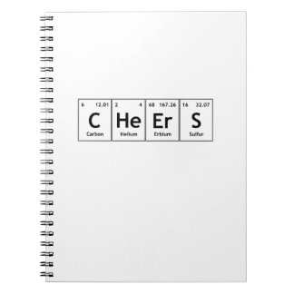 CHeErS Chemistry Periodic Table Words Elements Spiral Notebook