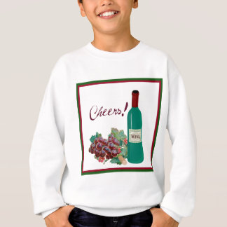 CHEERS FRAMED RED WINE AND GRAPES PRINT SWEATSHIRT