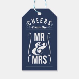 Cheers from the Mr & Mrs Wedding Wine Liquor Favor