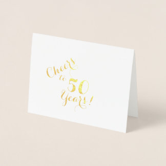 Cheers to 50 Years Note Card