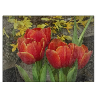 Cheery Tulips Cutting Boards