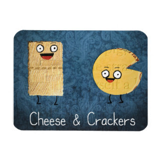 Cheese and crackers magnet