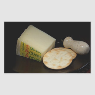 Cheese and Crackers Rectangular Sticker