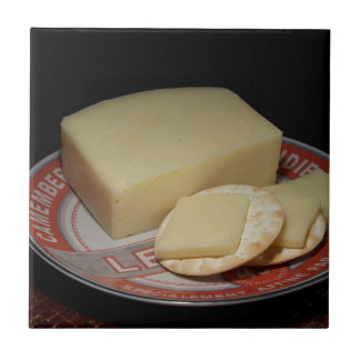Cheese and Crackers Small Square Tile