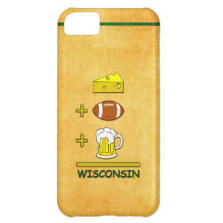 Cheese Plus Football Plus Beer Equals Wisconsin iPhone 5C Case