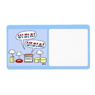 Cheese Theme Food Storage Funny Cartoon Shipping Label