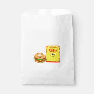 Cheeseburger and Potato Chips Birthday Favour Bags