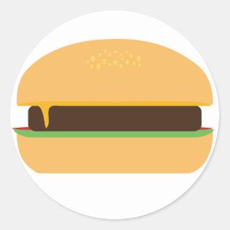 Cheeseburger Classic Round Sticker