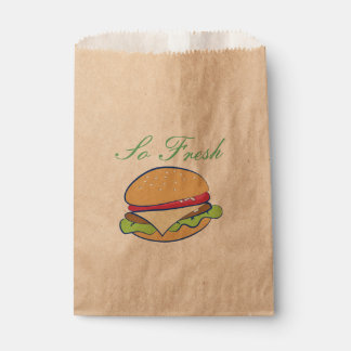 Cheeseburger Favour Bags