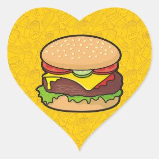 Cheeseburger Heart Sticker