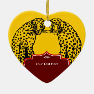 Cheetah Big Cat Art Deco Style Christmas Ornament