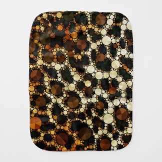 Cheetah Bling Burp Cloth Brown/Black/Cream