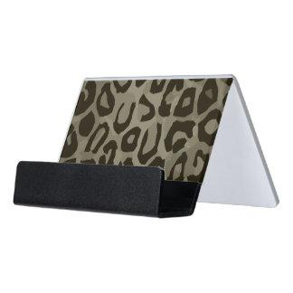 Cheetah Camouflage Desk Business Card Holder