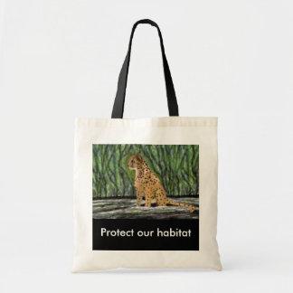 Cheetah habitat Budget Tote Bag
