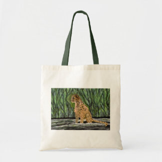 Cheetah habitat tote bags