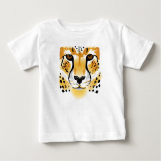cheetah head close-up illustration baby shirt